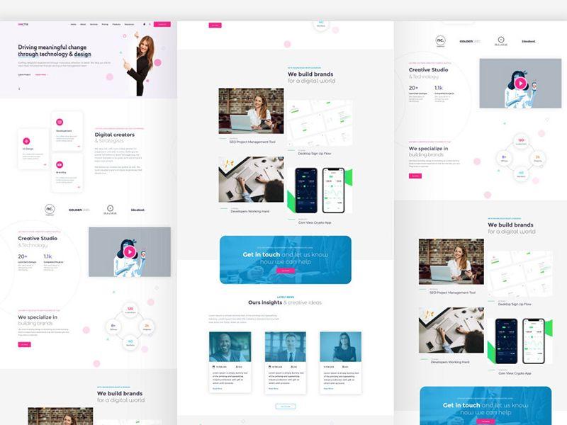 Adobe Xd Web Template | Free website templates, Adobe xd