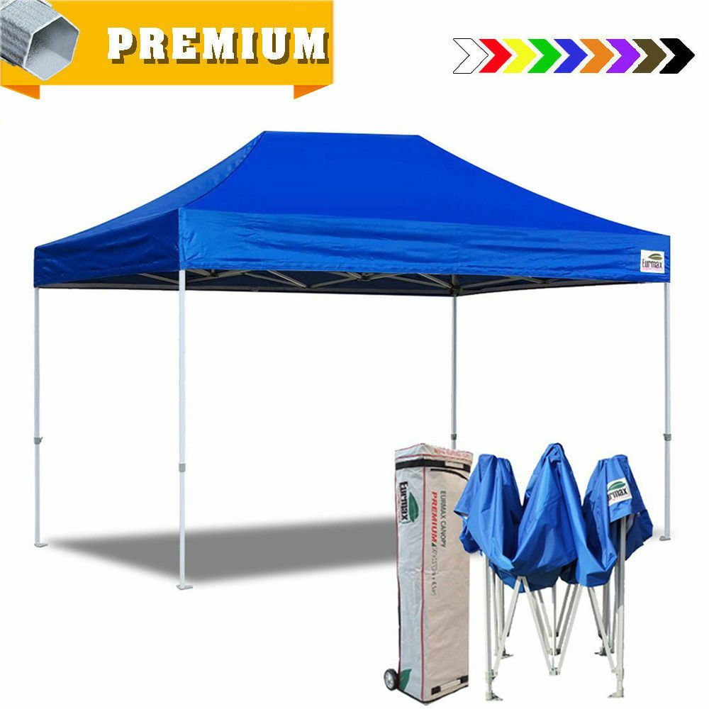 Advertisement Ebay Eurmax Blue Ez Pop Up Canopy 10x15 Outdoor