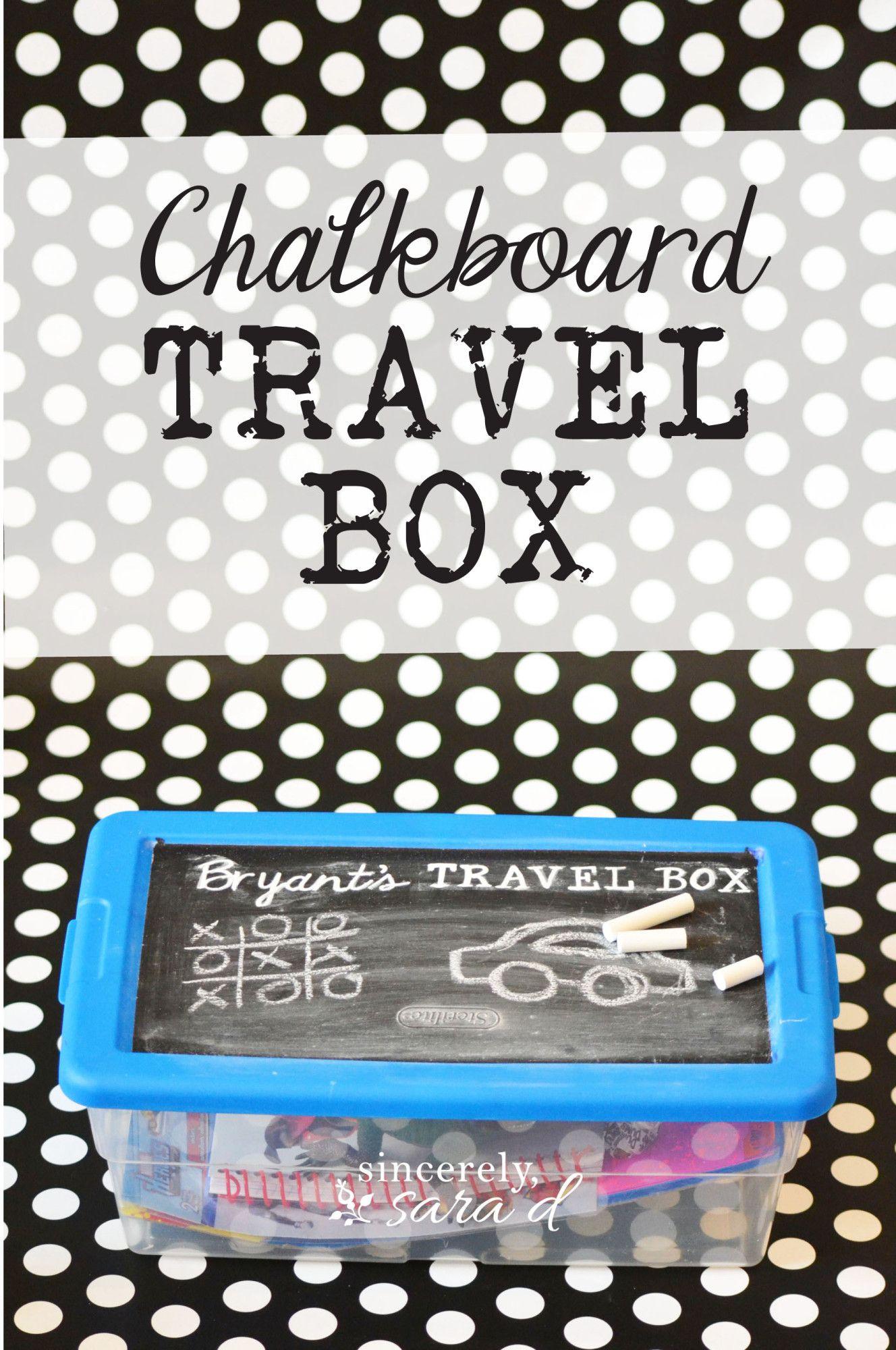 Kids Chalkboard Travel Box is part of Kids chalkboard, Diy gifts for grandma, Travel box, Diy for kids, Kids, Activities for kids - Kids Chalkboard Travel Box