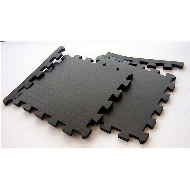 TNT Black Foam 48-square Feet Waterproof Interlocking Gym