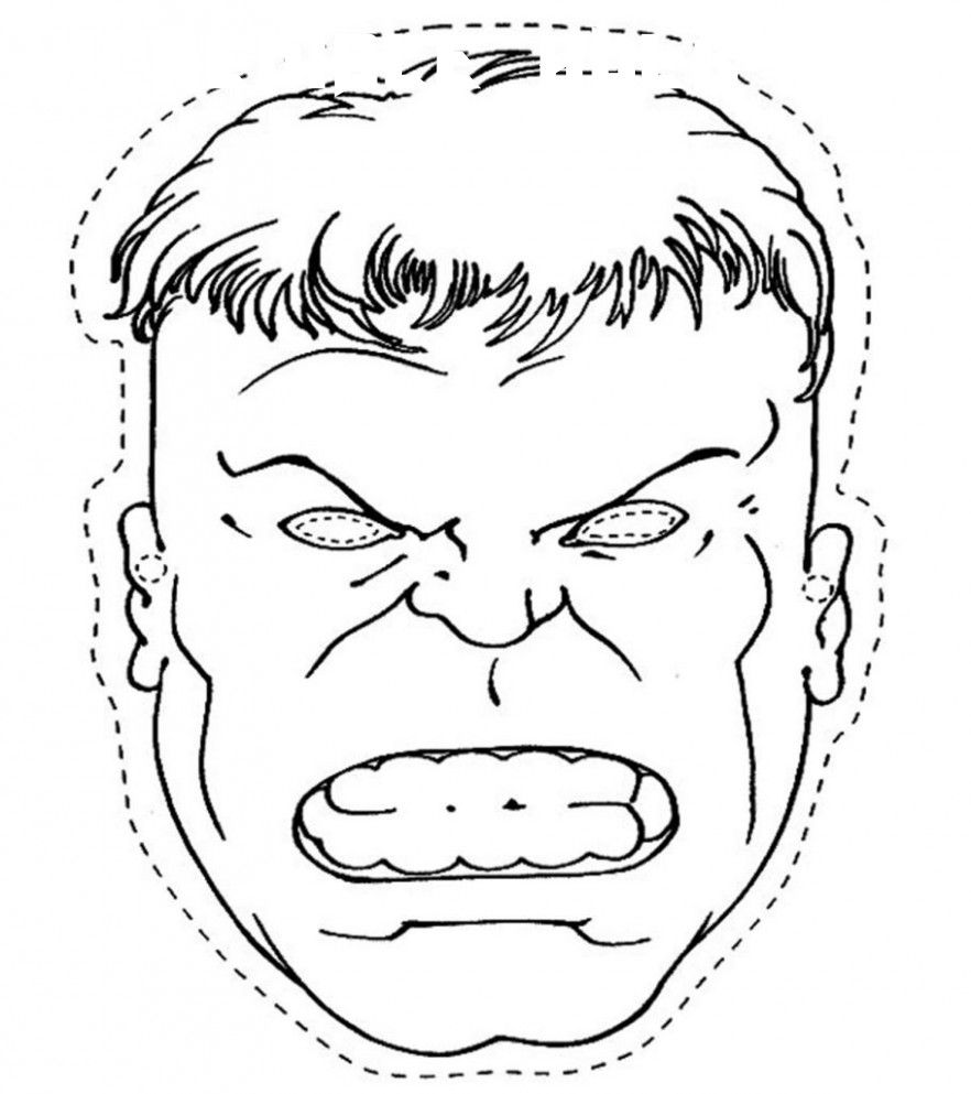 8 Incredible Hulk Coloring Page Mascara De Hulk Antifaz Superheroes Pinatas De Hulk