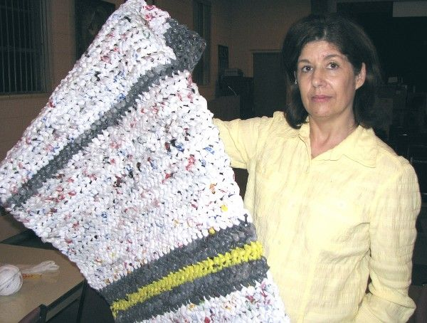 How To Make A Blanket From Grocery Sacks Plastic Bag Crochet Plastic Bag Crafts Homeless Bags