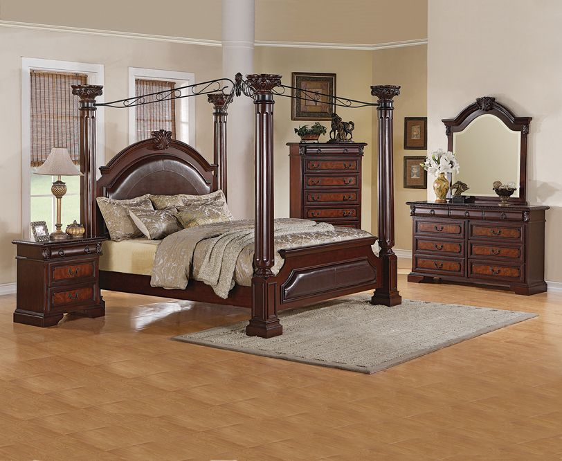 Amazing canopy bed and bedroom suite. Perfect for a dream bedroom ...