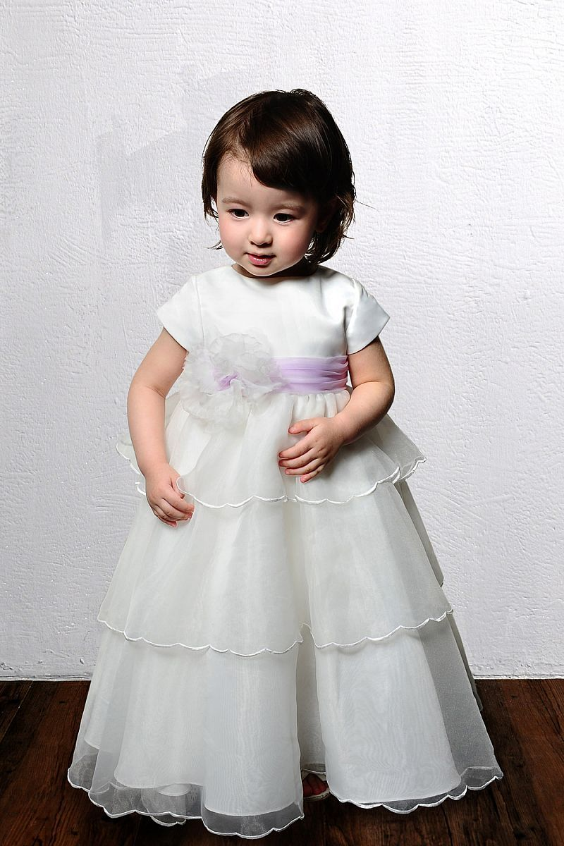 """Perfect A-line organza short sleeve flower girl dress"""" data-componentType=""""MODAL_PIN"""