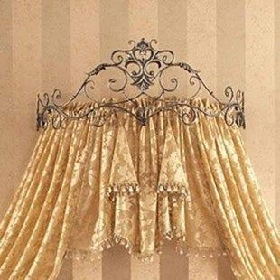 Find More Information About Wrought Iron Bed Frame Mantle Curtain