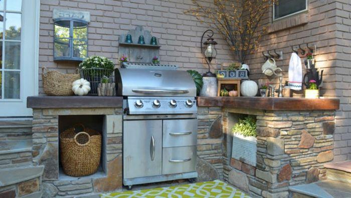 1001 ideen f r outdoor grillk che mit modernem design for Gemauerte outdoorkuchen