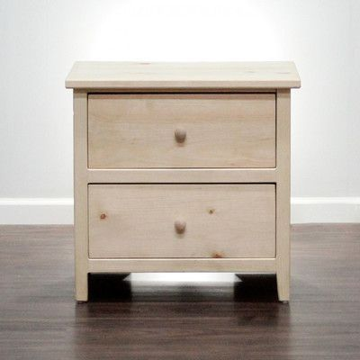 Halifax 2 Drawer Nightstand. Solid Wood FurnitureGothic ...