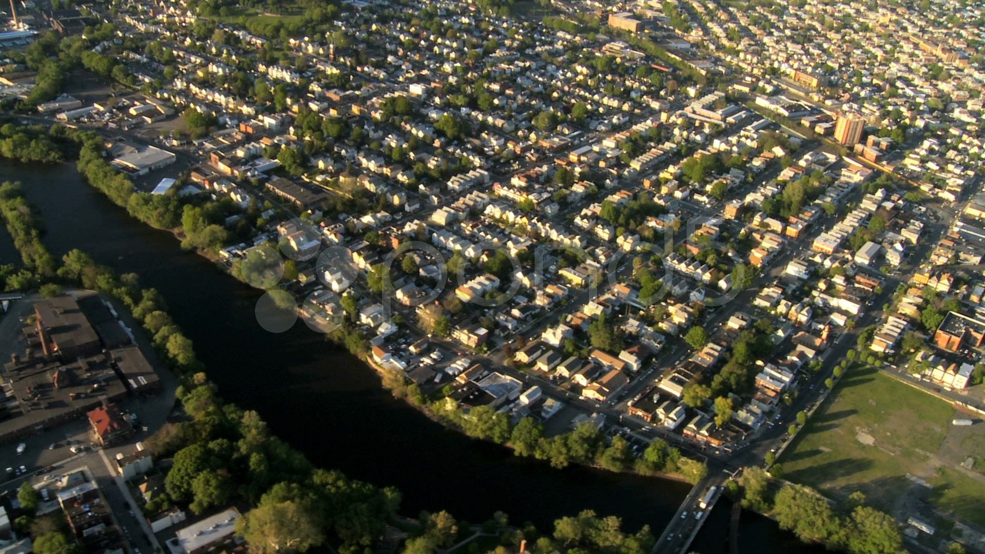 Aerial View Of New Jersey And Suburbs New York State Ny Usa Stock Footage Suburbs York Jersey Aerial Aerial View New York State Aerial