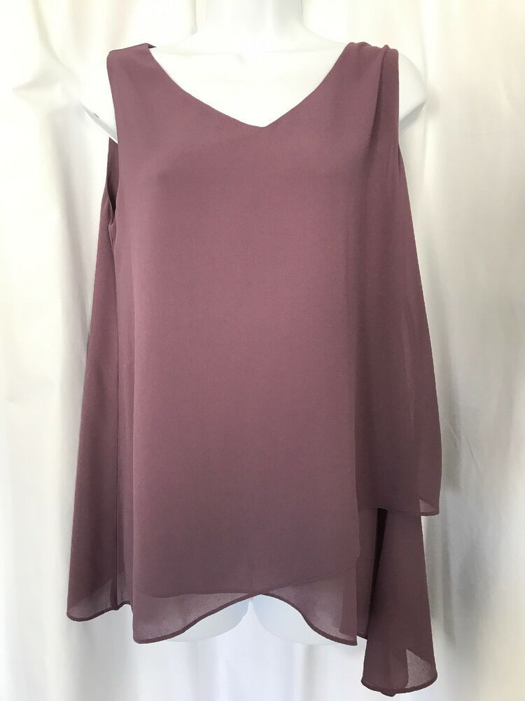 fb67ccc2 Soft Surroundings Tunic Shirt Top Petite Small Asymmetrical Stretch PS  Purple #SoftSurroundings #Tunic #Any
