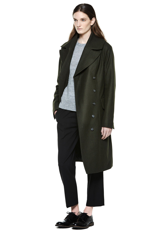 Alt Coat - Khaki Green Melange - Coats & Jackets - Shop Woman - Hope STHLM