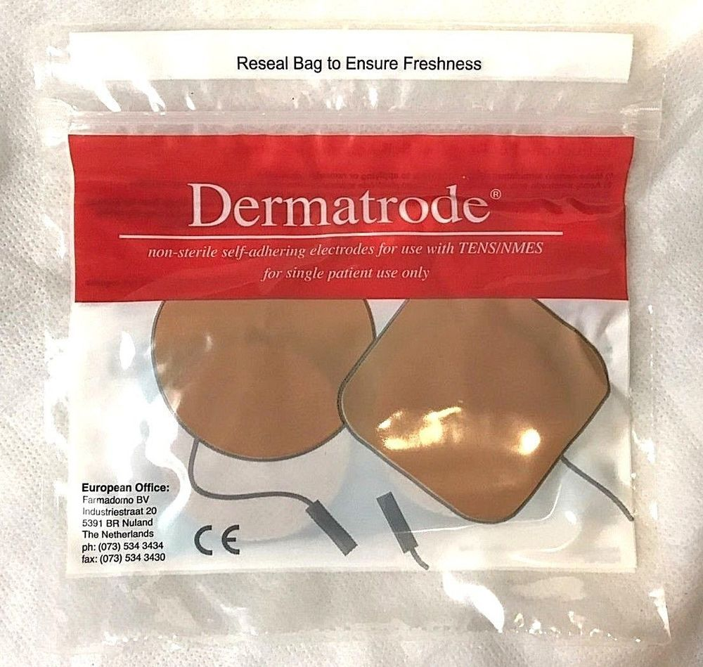 """DERMATRODE R 00200100 2""""(5.08cm) Round Pads 4 QTY NEW"""