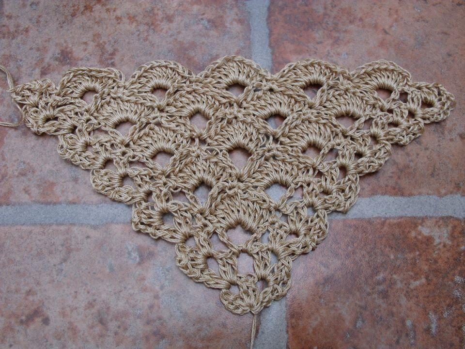 Blog Acrochet - Puntada Triangular para chal - Gisella Kamiche ...
