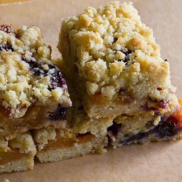 Peach Blueberry Crumb Bars by Remote Control-Proof, via Flickr