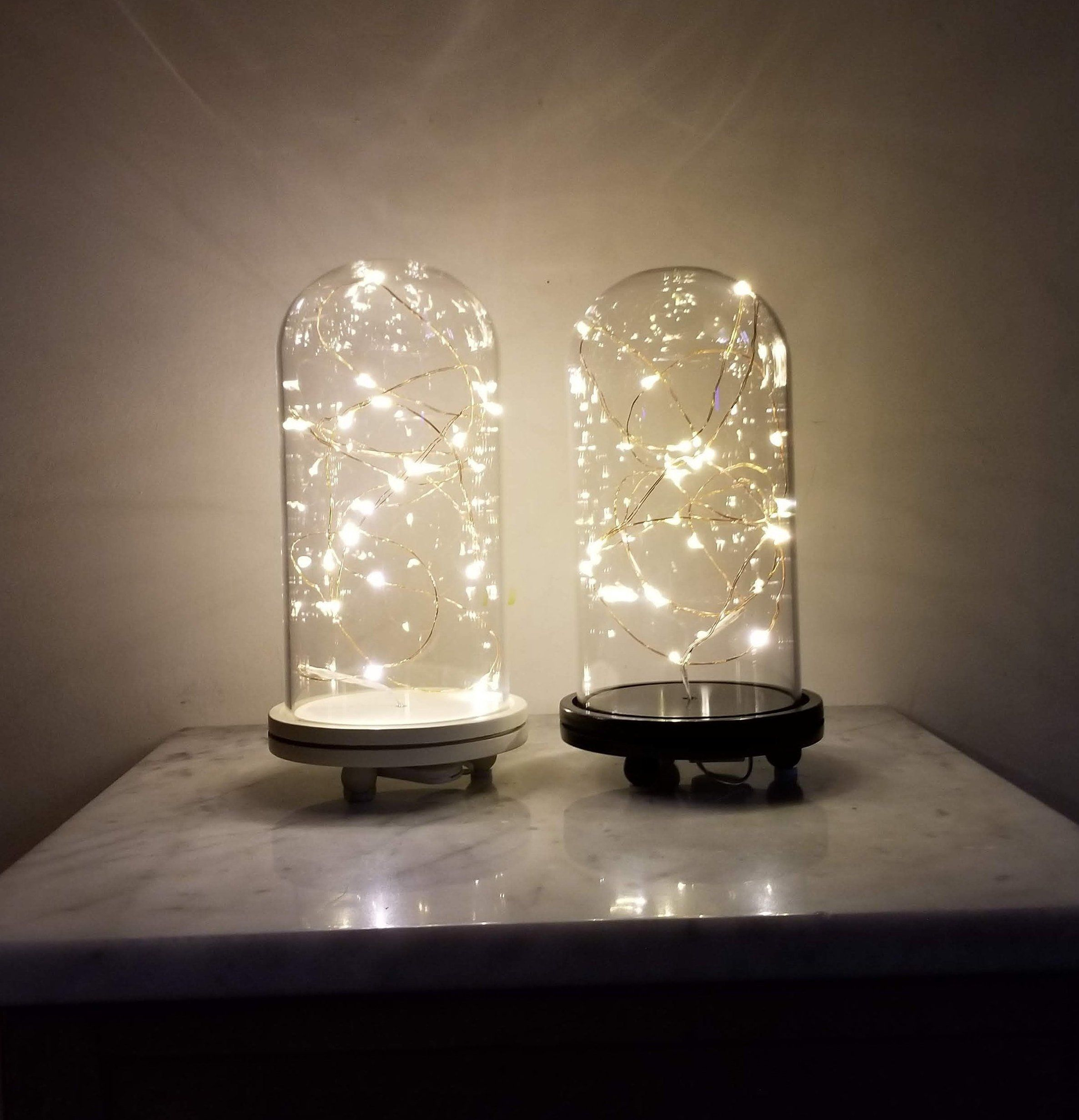 the latest 9d067 276c2 Glass Dome with Base and Copper String Lights in 2019 | Home ...