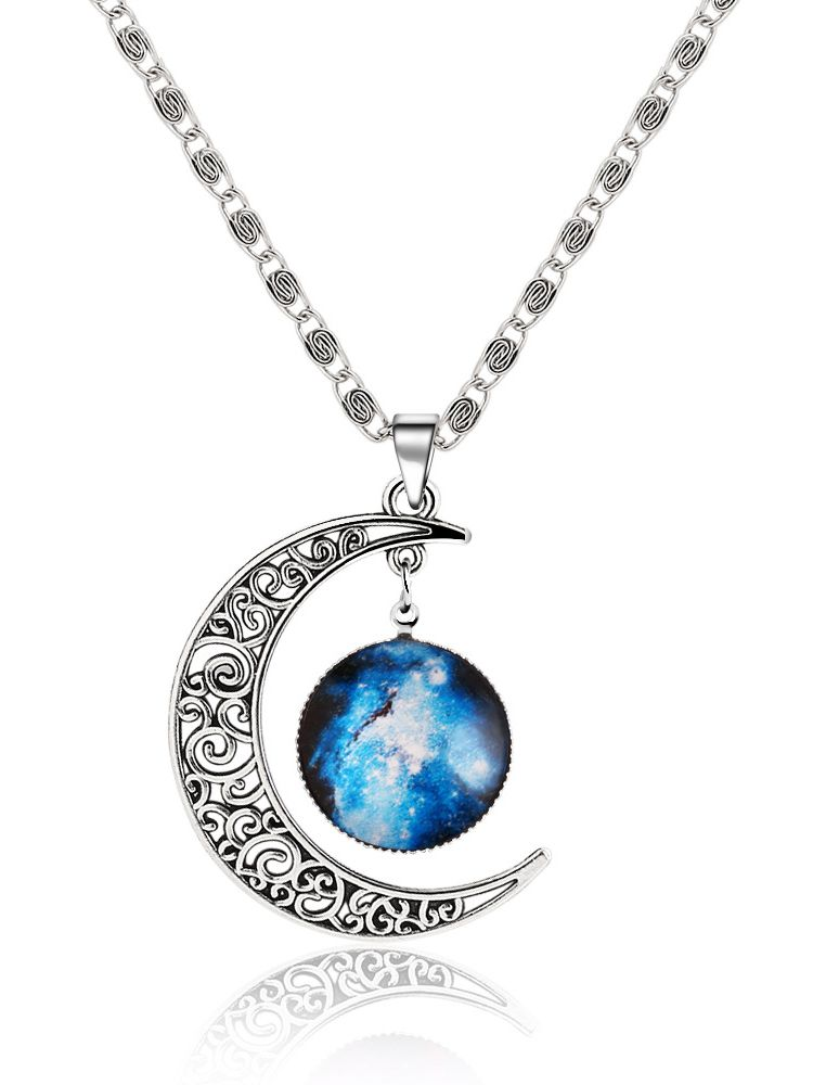 Silver sun moon pendant necklace makemechic shopping sun online shopping for silver sun moon pendant necklace from a great selection of womens fashion clothing mozeypictures Image collections
