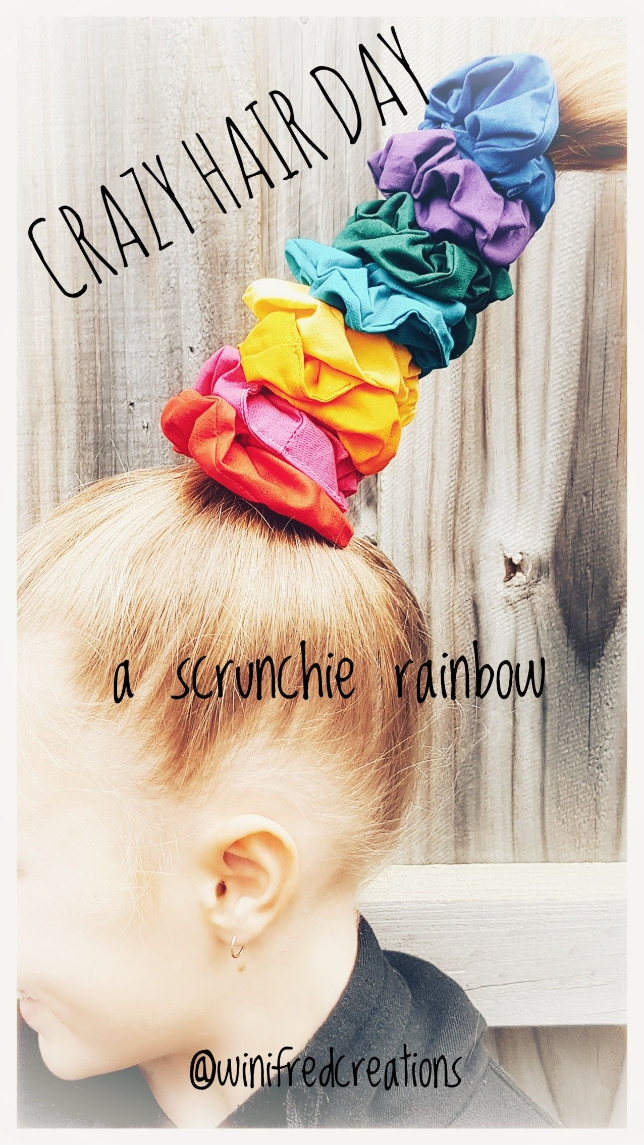 Check Out This Super Easy Girls Diy Crazy Hair Day Idea The
