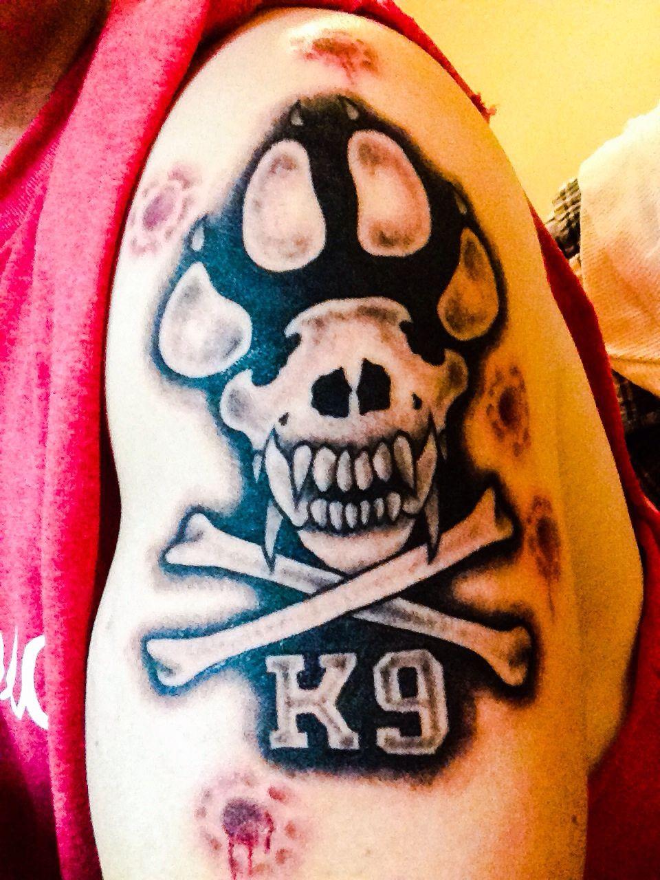 My Job My Life K9 Handler Tattoo Tattoos Skin Art Skull Tattoo