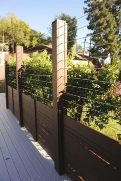 Wire Fences/Cable Fencing - traditional - Spaces - Los Angeles ...