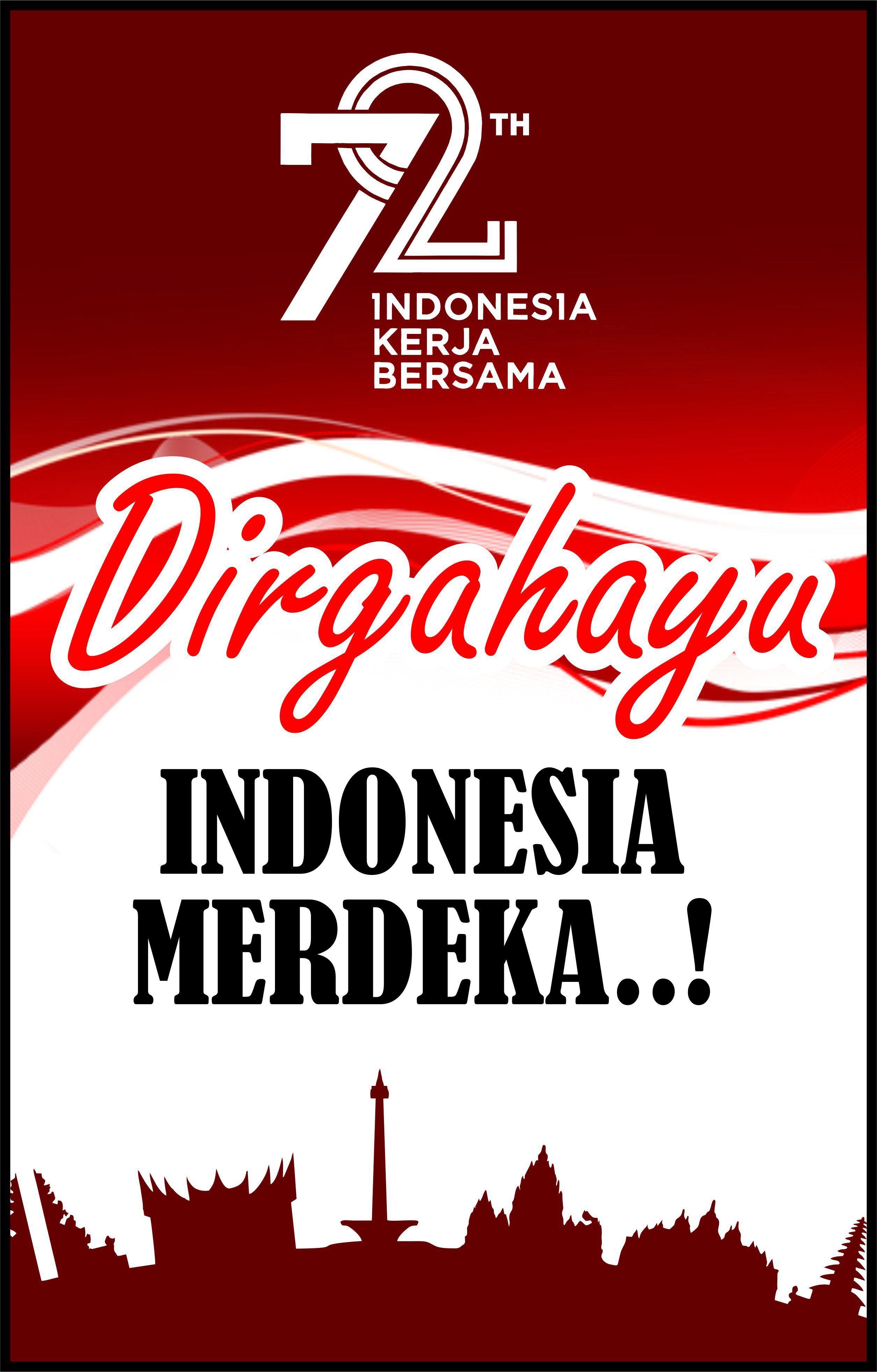 Poster Kemerdekaan Indonesia Ke 74 : poster, kemerdekaan, indonesia, Ucapan, Dirgahayu, Rumah