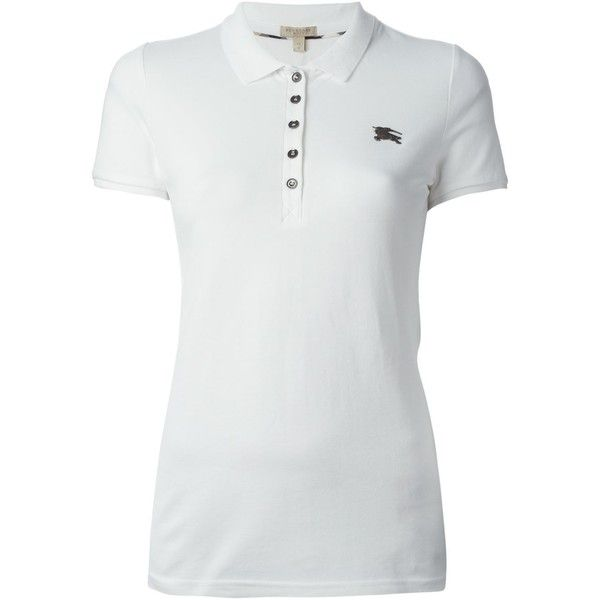 Burberry Brit Classic Polo Shirt ( 176) ❤ liked on Polyvore featuring tops,  store 8143f39eb32