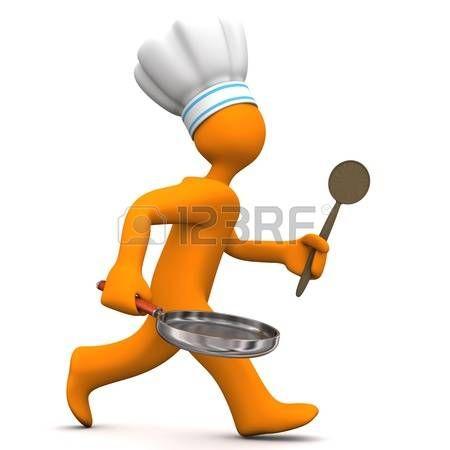 Personaje de dibujos animados de naranja, chef...