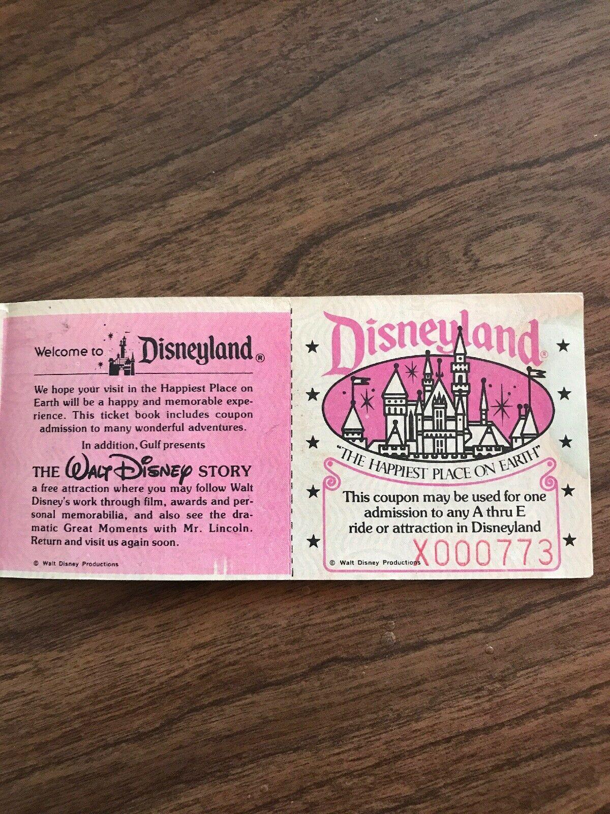 Disneyland ticket disneyland vintage disneyland how to