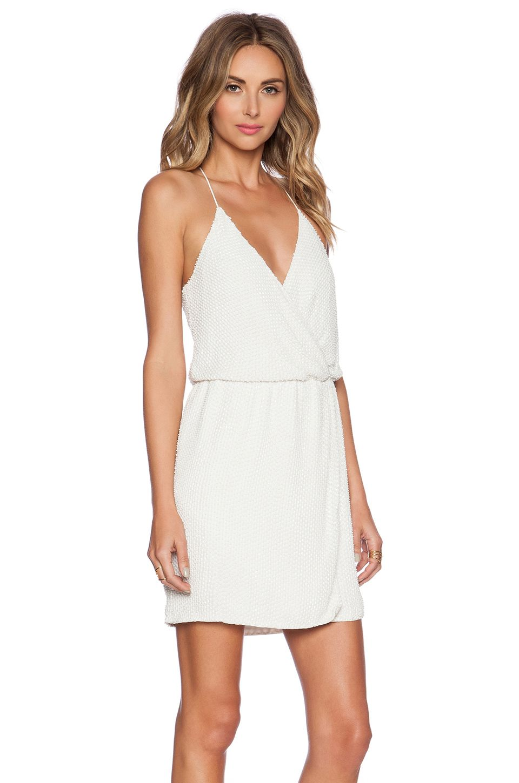 Parker black catarina sequin dress in white white hot bridesmaids
