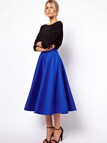 6 Full Skirts for Fall #fullskirtoutfit