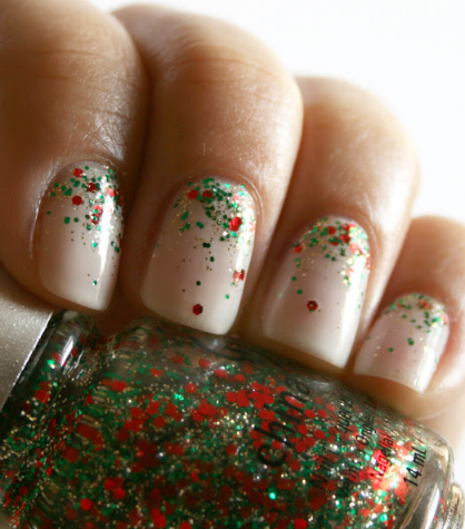 5 Holiday Festive Nail Art Designs Lux Beauty Pinterest