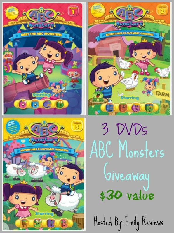 ABC Monsters giveaway ~ Meet The ABC Monsters Volume 1, Adventures In Alphabet Gardens! Volume 2, and Adventures In Alphabet Gardens! Volume 3