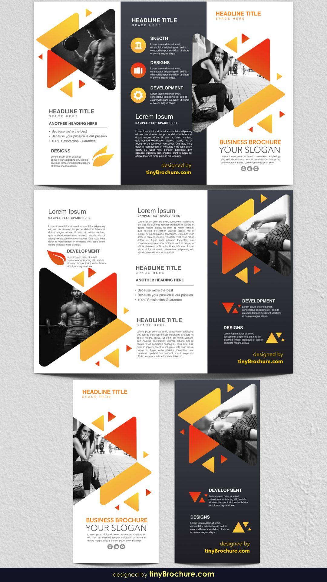 3 Panel Brochure Template Google Docs 2019 in 2020