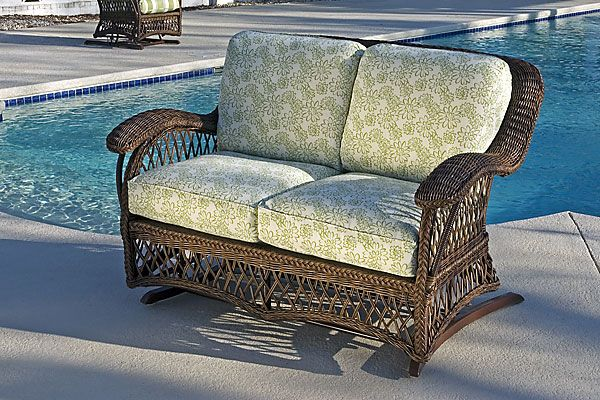 Chesapeake Outdoor Wicker Gliding Loveseat Is A Perfect All Weather Addition To The Exterior Of Any
