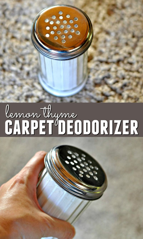 Diy Lemon Thyme Carpet Deodorizer Carpet Deodorizer Carpet