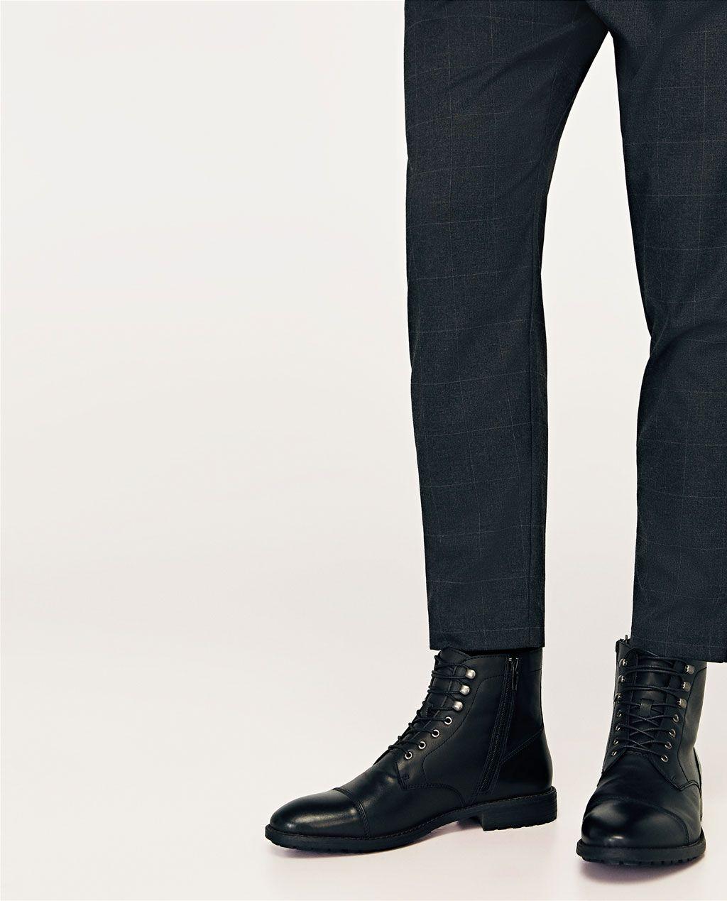 en soldes dcc80 96aec Image 4 de LACE-UP BOOTS de Zara | My men's style in 2019 ...