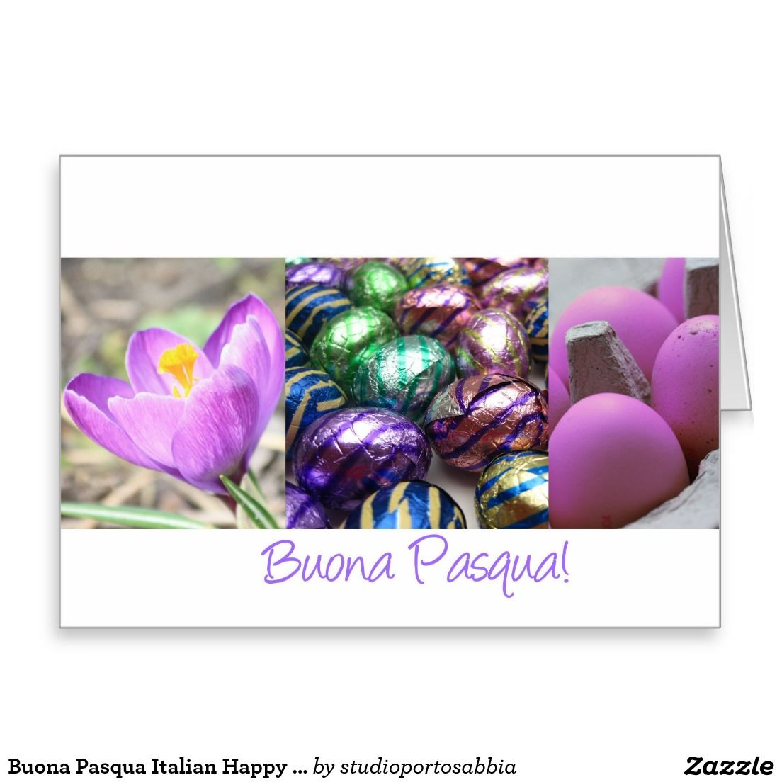 Buona Pasqua Italian Happy Easter Greeting Card Stuff Sold On