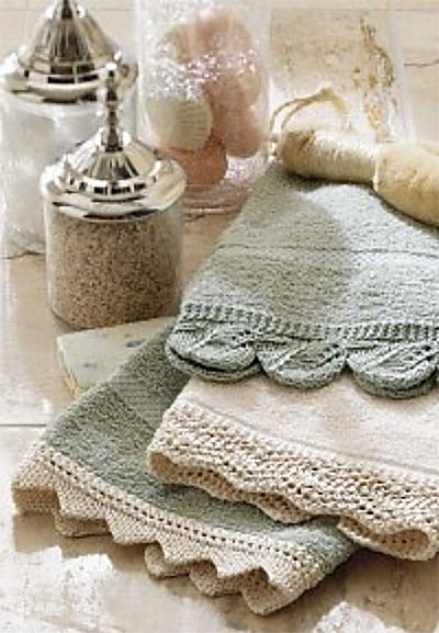 Free Knitting Pattern For Lace Edging For Hand Towels Add Knit