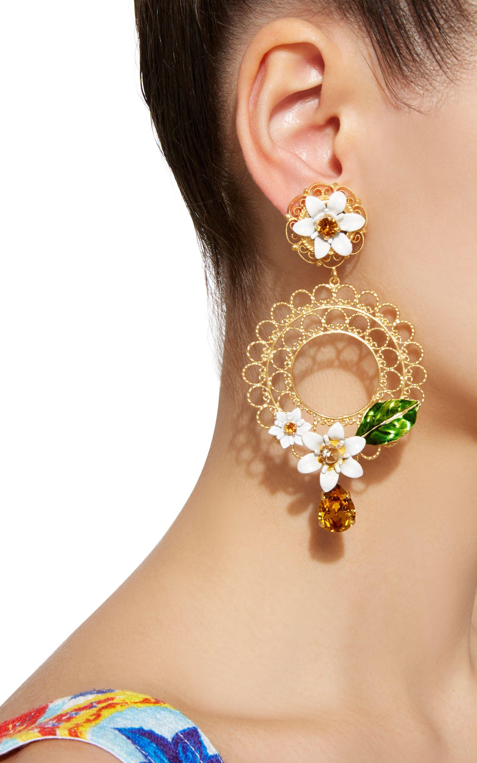 Daisy Clip Earrings Moda Operandi