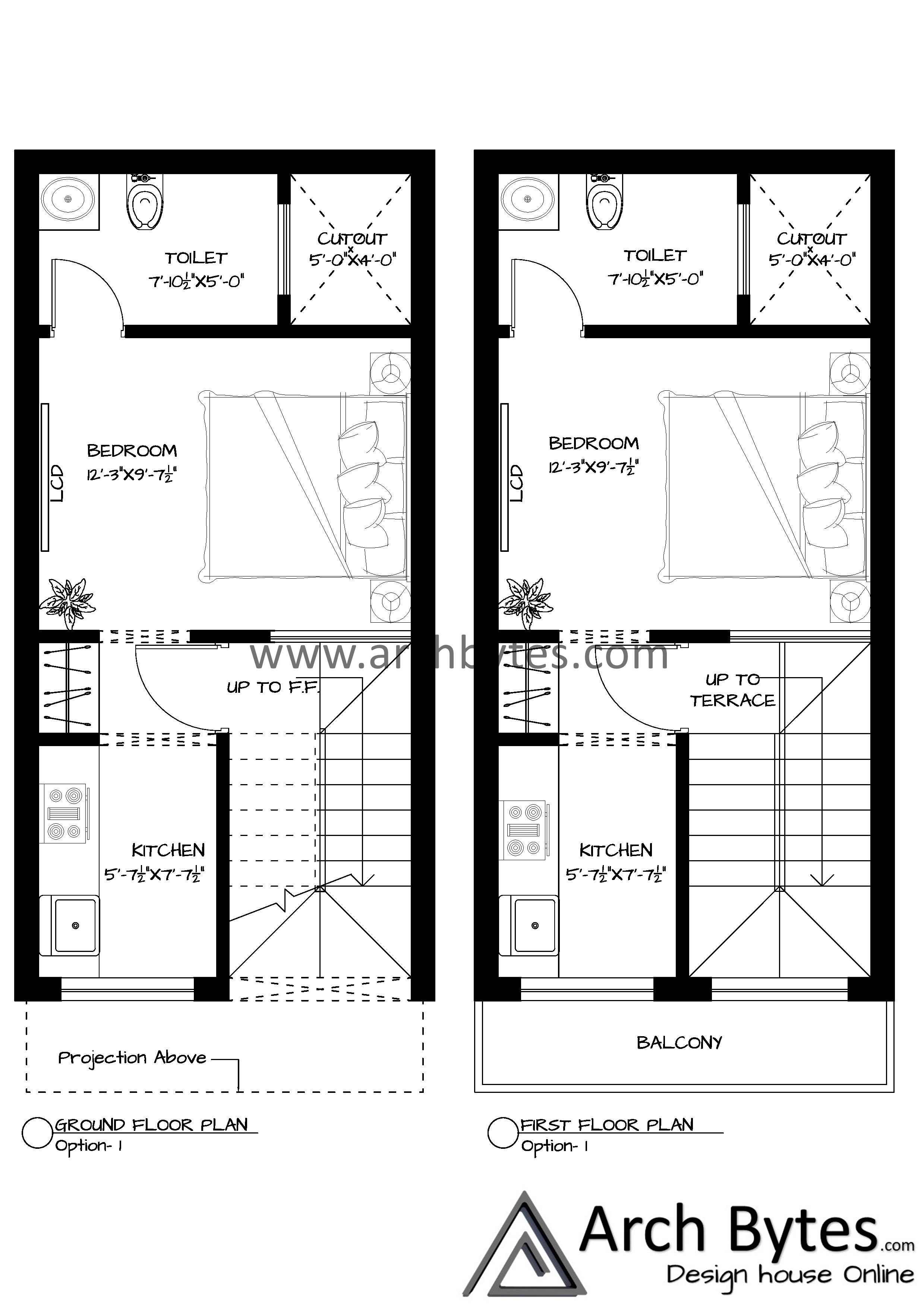 House Plan For 14x27 Feet Plot Size 42 Square Yards Gaj House Plans How To Plan 3 Storey House Design