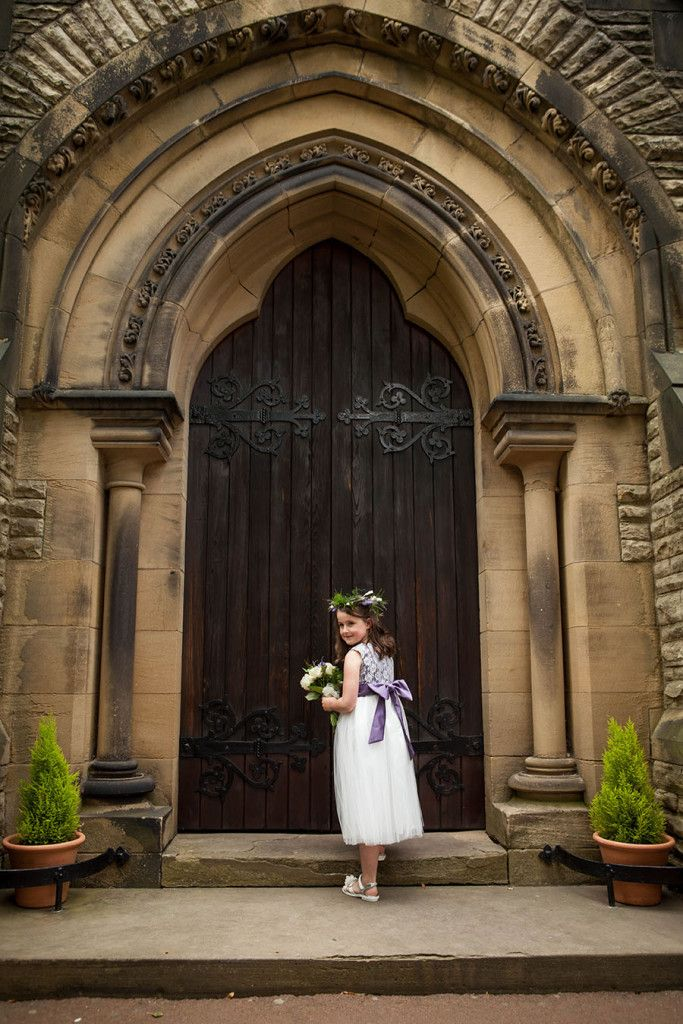 Flower Girl on Church Steps - Erika Tanith Photography