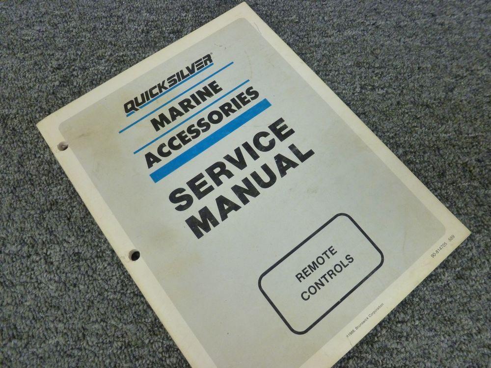 1990 Mercury Quicksilver Commander 2000 Remote Control Service Repair Manual Parts And Accessories Truck Parts Cars Trucks