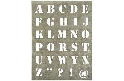 Metaal lettersjabloon