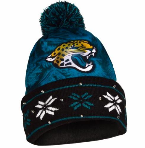 2a2654c13b6 Jacksonville Jaguars Hat - LED Lighted Big Logo Beanie