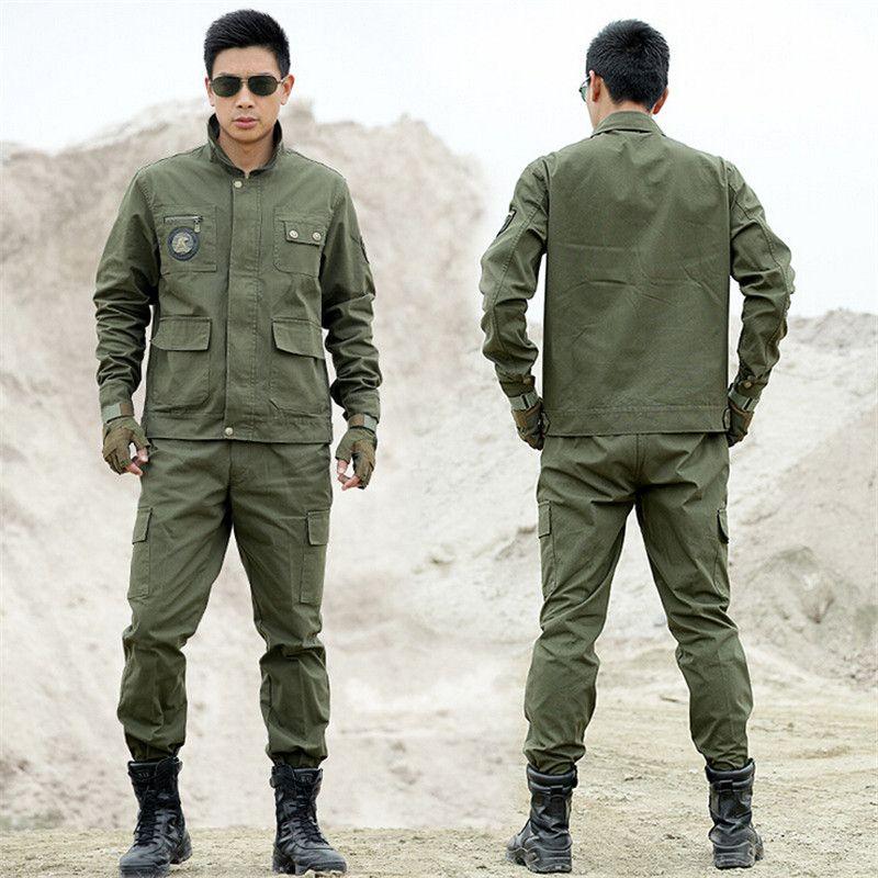 Outdoors Tactical Military Uniform Clothing CS Combat Uniform Army Military Men's  Jacket+Pants Work Clothes