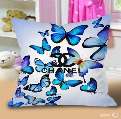Butterfly Art chanel Pillow Cases