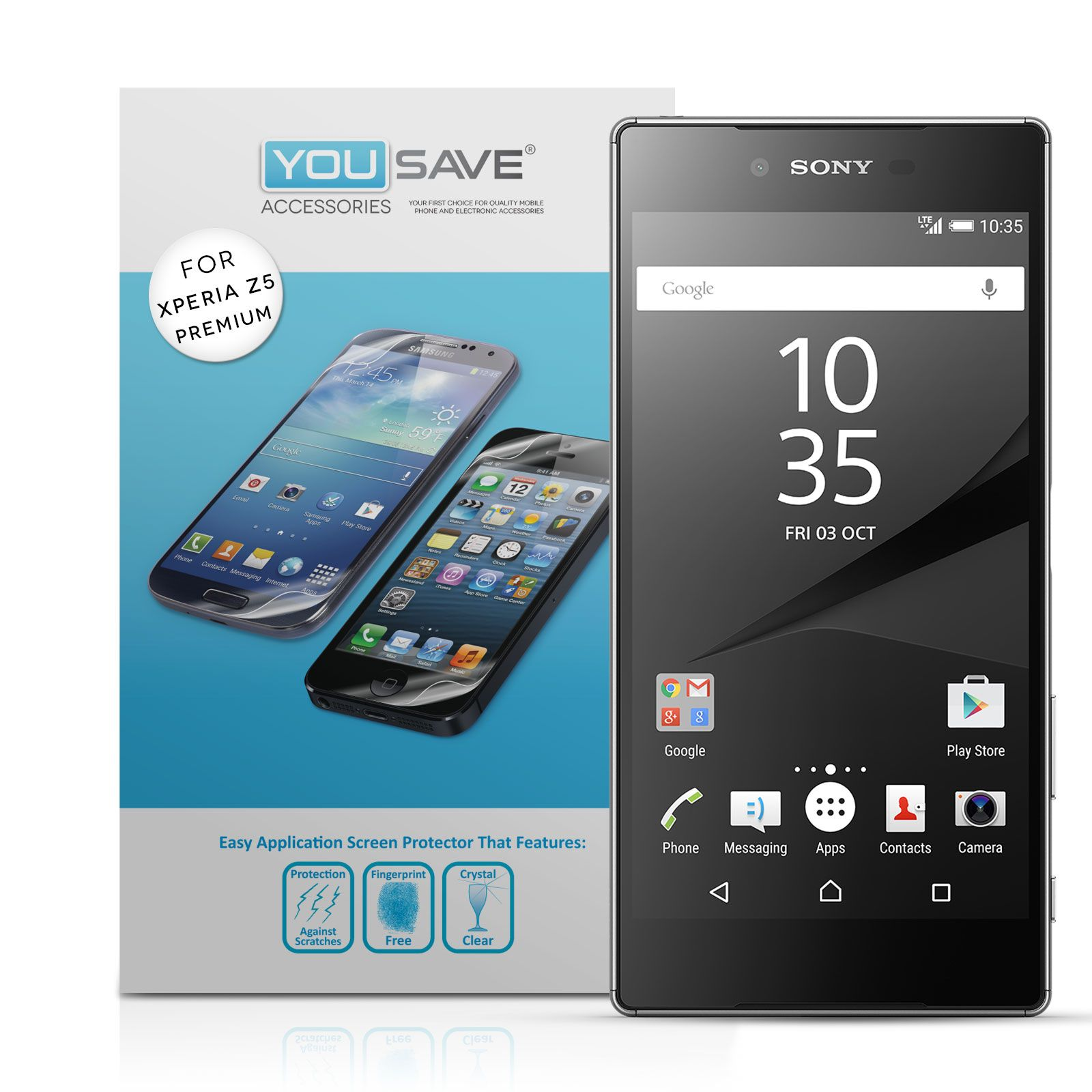 Yousave accessories sony xperia z5 premium screen protectors x5 yousave accessories sony xperia z5 premium screen protectors x5 mobile madhouse ccuart Gallery