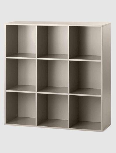 meuble de rangement 9 cases blanctaupe vertbaudet enfant