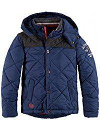neue Kollektion offizielle Seite rationelle Konstruktion TWINLIFE BOYS Winterjacke Jacke Kapuze marine blau anthrazit ...