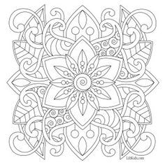 Lilt Kids Free Easy Mandala Adult Coloring Book Image Davlin