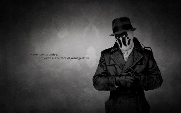 Watchmen Text Quotes Rorschach Monochrome Hats Wallpaper Background Watchmen Quotes Comic Poster Rorschach