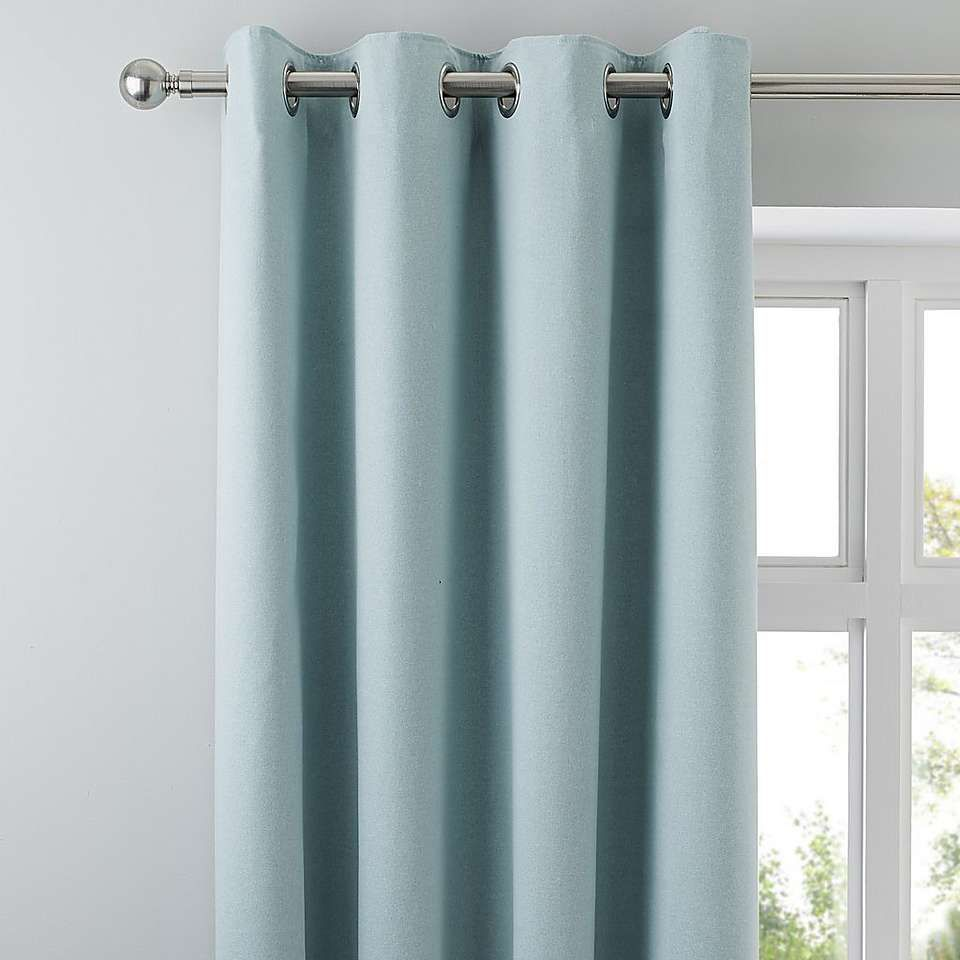 Tyla Duck Egg Blackout Eyelet Curtains